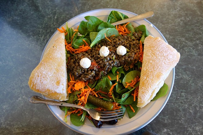 Pagosa Baking Co.'s lentil salad with goat cheese.