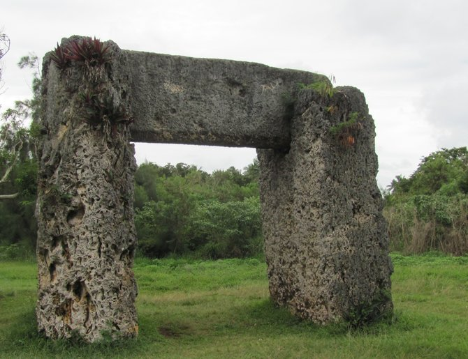 Ha'amonga 'A Maui or the Trilithon, one of the South Pacific's most fascinating archaeological remains.