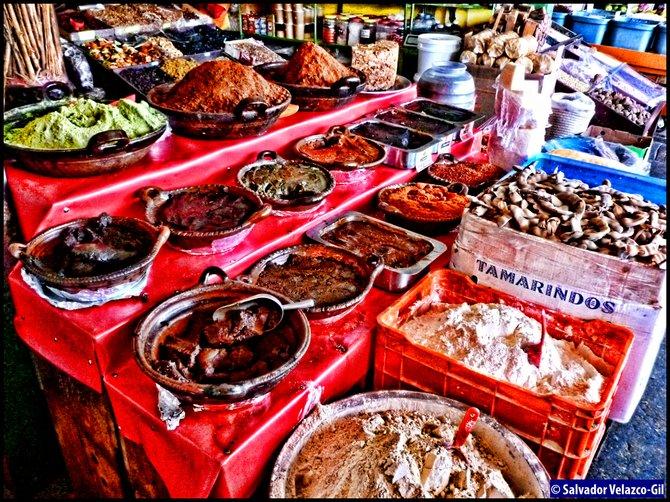 Neighborhood Photos TIJUANA,BAJA CALIFORNIA Spices in Tijuana's Mercado Hidalgo / Especias en Mercado Hidalgo en Tijuana