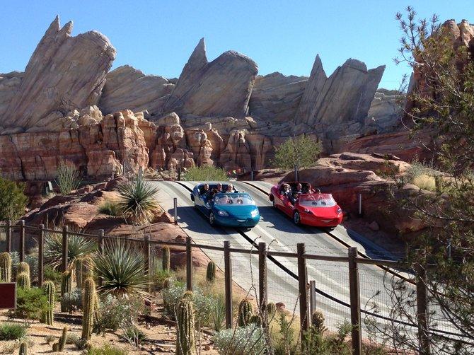 Radiator Springs Racers at Cars Land, Disney California Adventure.