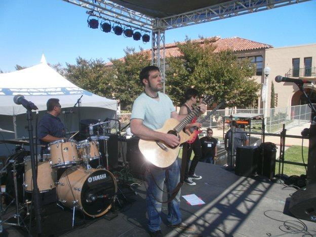 Michael Bowman at soundcheck. by Bart Mendoza