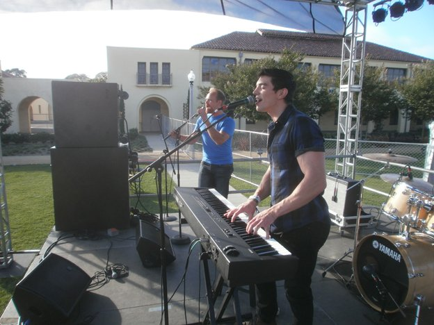 """Steve Grand is joined by Kevin Wood for """"All American Boy."""" Photo by Bart Mendoza"""
