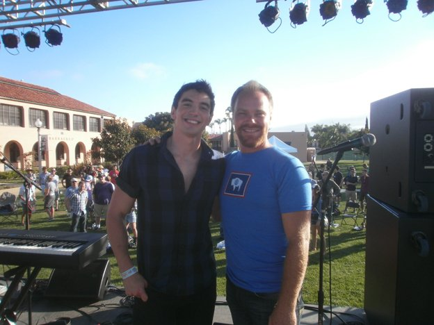 Steve Grand and Kevin Wood post set. Photo by Bart Mendoza