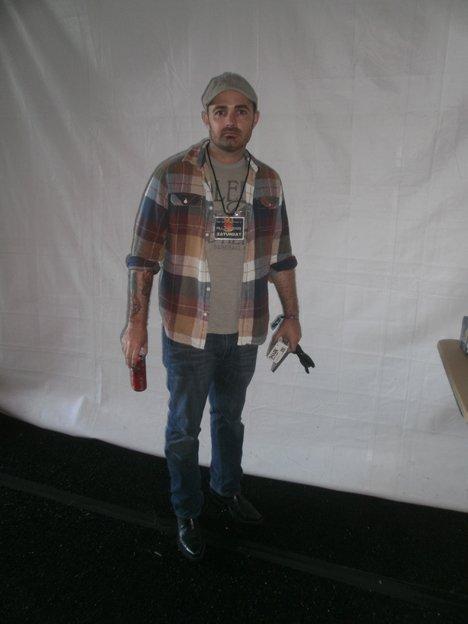 Josh Damigo backstage. Photo by Bart Mendoza.
