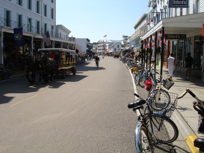 Main Street, Mackinac Island – no motorized vehicles allowed