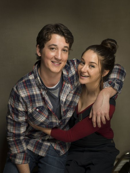 Miles Teller and Shailene Woodley.
