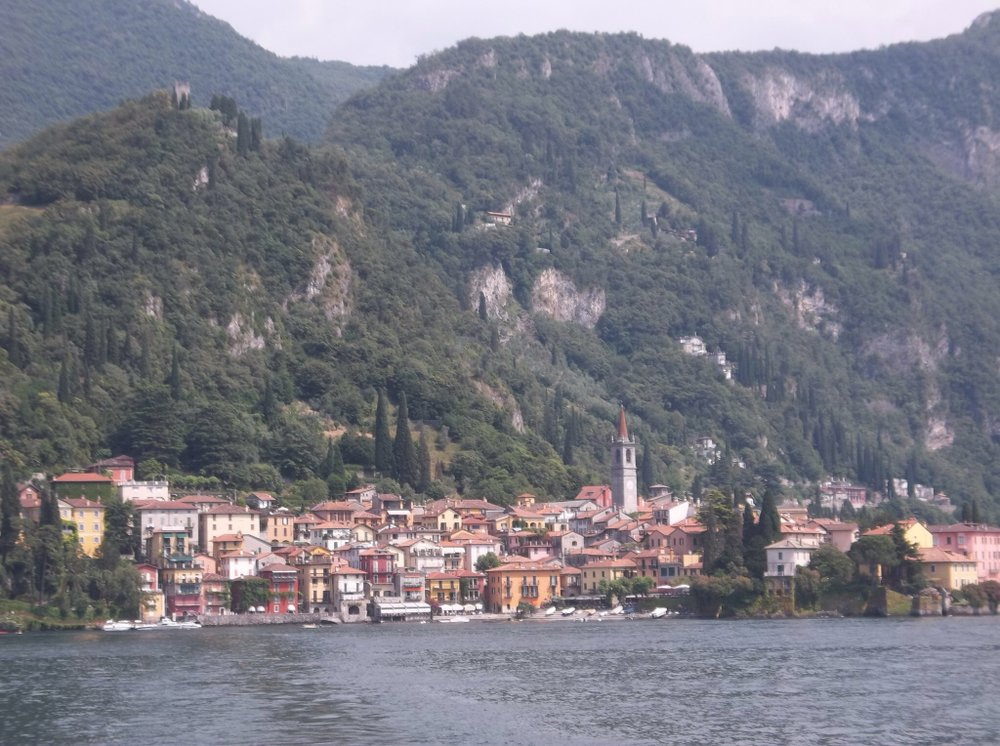 Approaching Varenna by ferry.