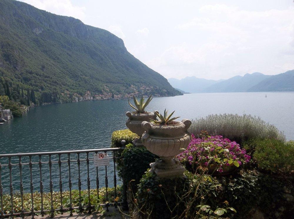 Villa view of Lake Como.