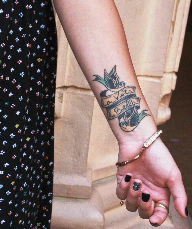 Life is Beautiful tattoo