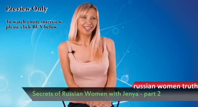 In one of her online profiles, Jenya says she prefers older men.