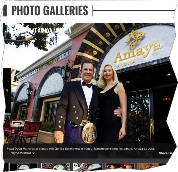 Though Manchester's divorce isn't yet final, the U-T has published photos of him with his new fiancée.