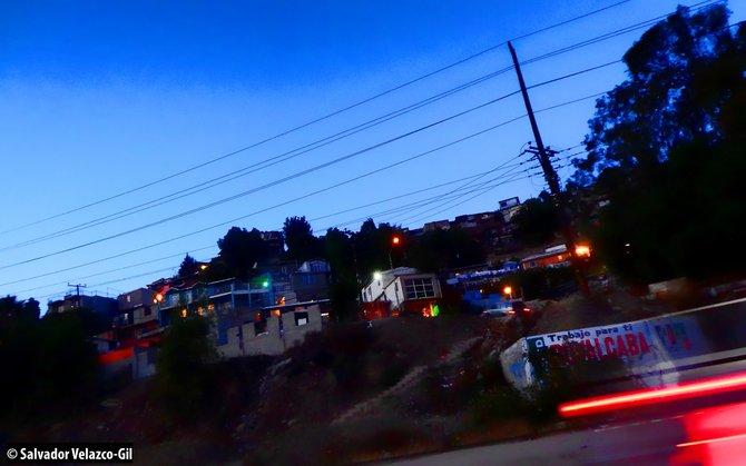 Neighborhood Photos TIJUANA,BAJA CALIFORNIA Night view of Laderas de Colonia Postal in Tijuana/Vista nocturna de Laderas de Colonia Postal en Tijuana .