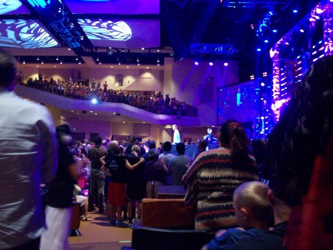 Rockin out at the Rock Church in Liberty Station.