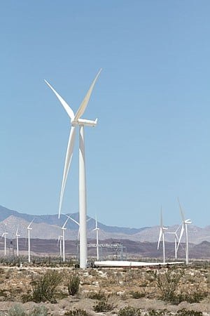 New blades were recently installed on turbines at the Ocotillo Express Wind Energy Project.