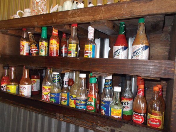 The spice rack has everything
