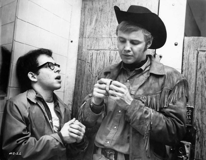 "Bob Balaban and Jon Voight in ""Midnight Cowboy."""