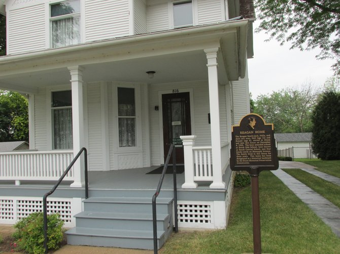Road trips through the Midwest are can be chock full tourist stops such as Pres. Ronald Reagan's boyhood home in Dixon, IL.