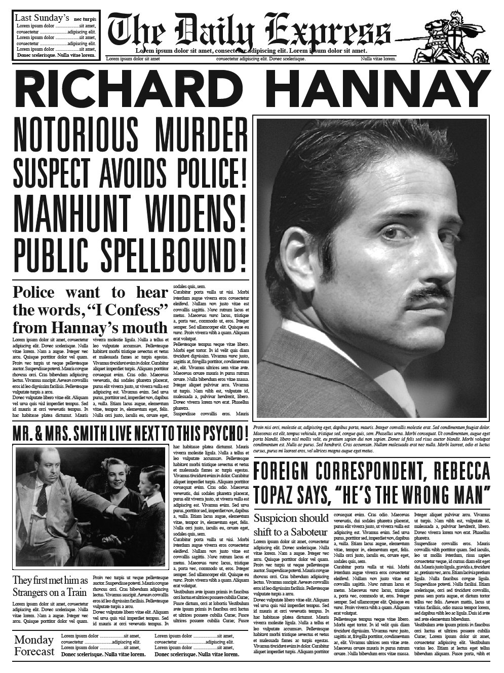 Prop newspaper from The 39 Steps