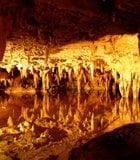 """In the heart of the Luray Caverns, """"Dream Lake"""" behaves like a reflecting pool, despite ..."""