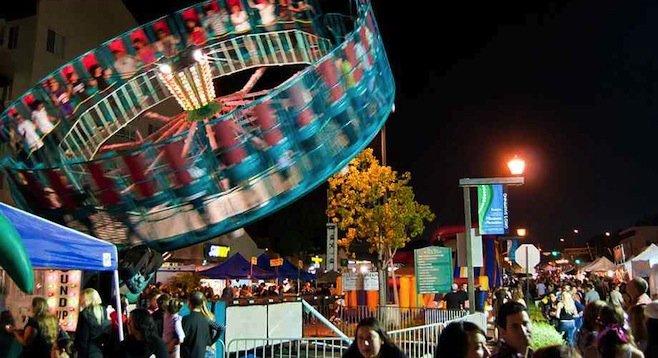 La Mesa's Oktoberfest in 2010 - with rides