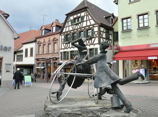 3. memorial outside pharmacy in Wiesloch