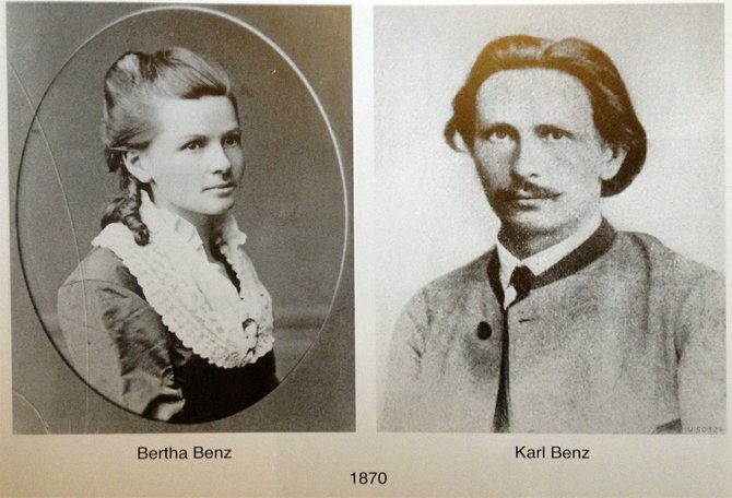 1870 images of Bertha and Carl Benz