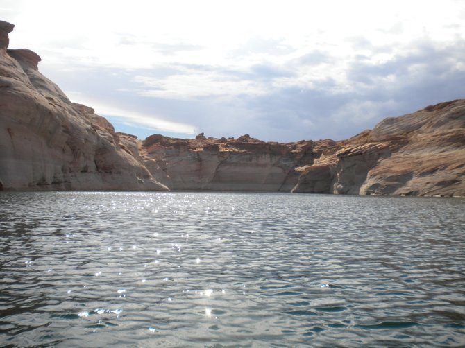 On Lake Powell.