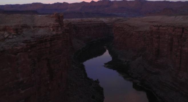 Dusk at Marble Canyon, on the Arizona-Utah border.