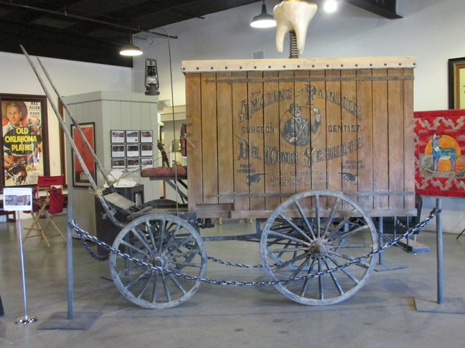 The jail wagon used in the film Django Unchained was donated to the museum by director Quinton Tarantino. Most of the film's stars on location, joined Tarantino at the presentation.