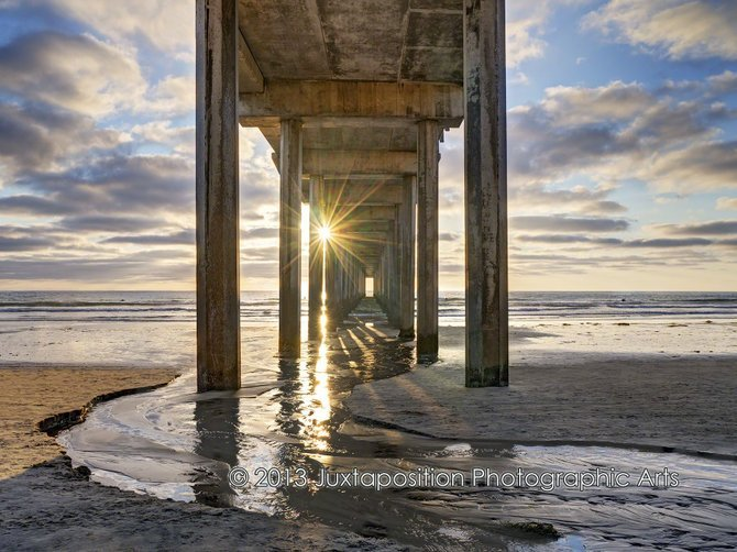 Brilliant Sunburst  at Scripps Pier