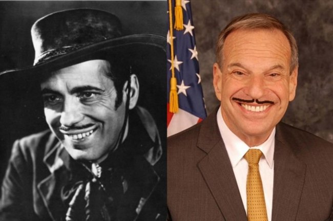 There's a bit of the Bogart in Filner's 'Dirty Sanchez' sneer.