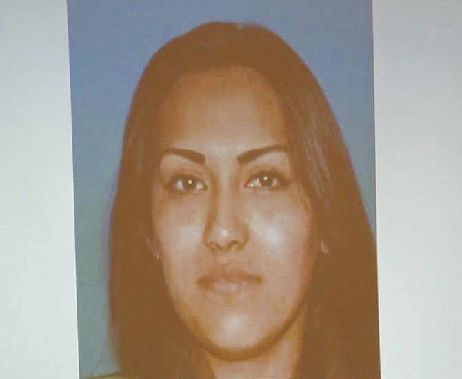 Cousin Carina is reportedly mother of defendant's 2 yr old son. Photo Eva.