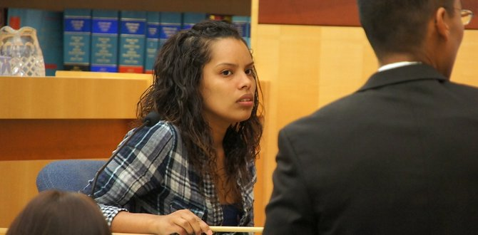 Diana testified in the trial of the man who shot her sister. Photo Eva.