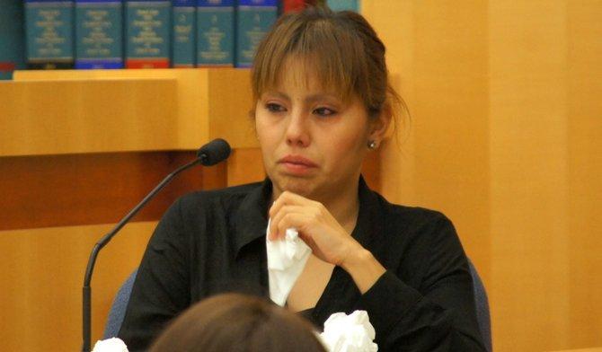 Yemely Rodriguez remembered the night her sister was shot. Photo Eva.