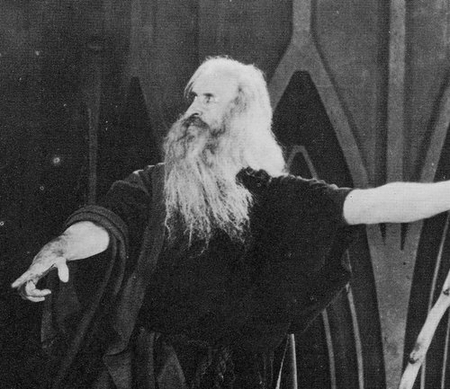 Theodore Roberts as 'Moses T. Lawgiver' in DeMille's original 1923 version.