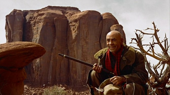 """All sick and old Hank Worden's Mose Harper needs is a rockin' chair by the fire. From John Ford's """"The Searchers."""""""