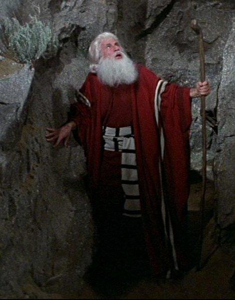 "Mel Brooks in ""The 20 Commandments."""