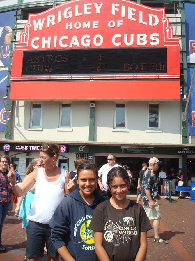 Taking in a game at Wrigley and an added bonus ... the Cubbies won!