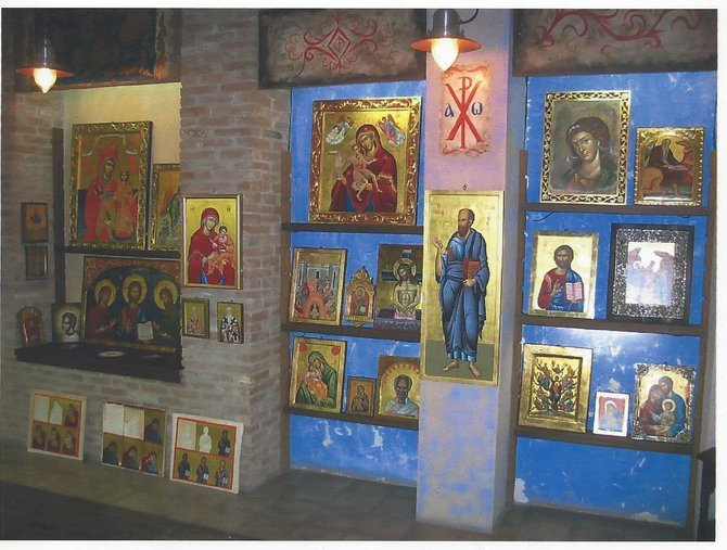 Icons in the atelier.