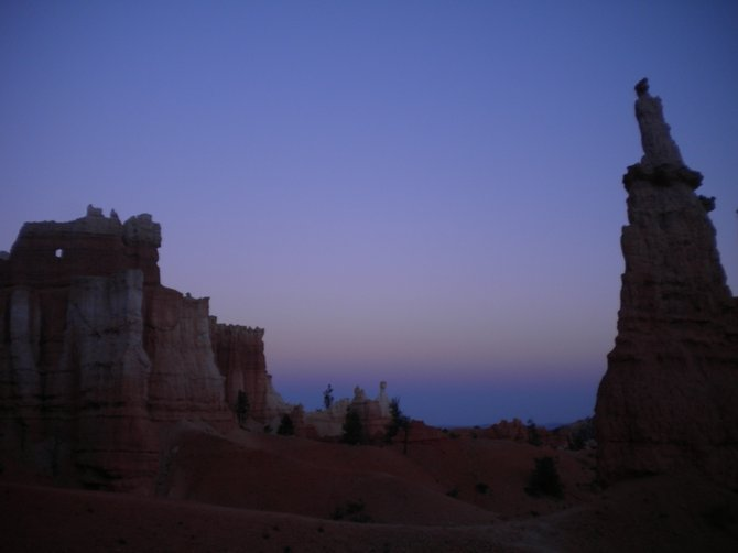Hoodoos at dusk