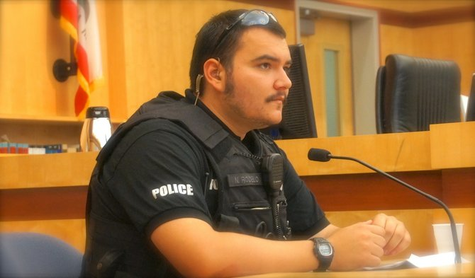 Escondido police officer Nicholas Rodelo. Photo Eva