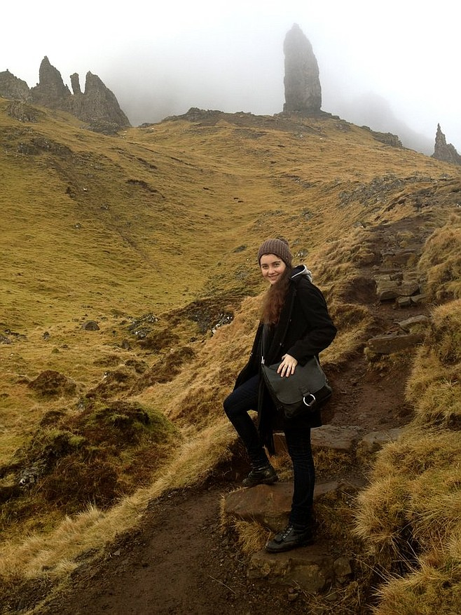 Hiking to the Old Man of Storr – a terrifying ancient rock with the wisdom and calm of, well, an old man. A really, really old man.  