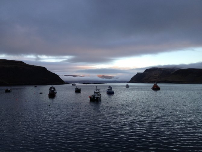 Neverland: Portree, Isle of Skye. The pirates must have brought their ships in for the night.