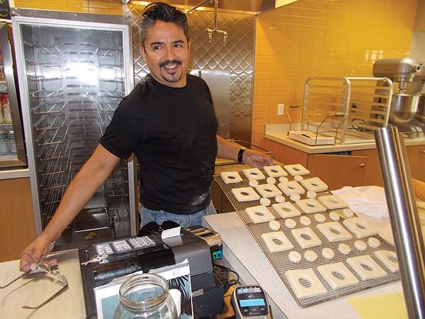 Javier Jiménez preps CroBars for overnight baking