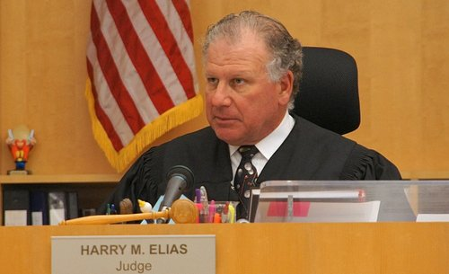 Hon. Harry Elias will pronounce sentence. Photo Eva.