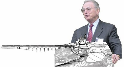 Qualcomm billionaire Irwin Jacobs with Balboa Park makeover model