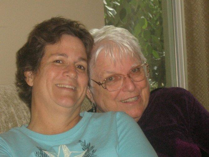 Laura Jeanne Morefield and her mother, Charlene Baldridge