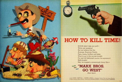 FILM DAILY, 1940. The Marx Bros.' dreariest film. More thought and imagination went into the creation of this ad than did the movie it promoted.