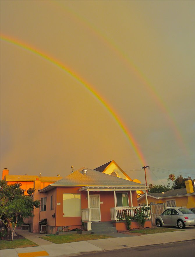 Early morning showers provided more Natural art on Ray St., San Diego's Art focus!