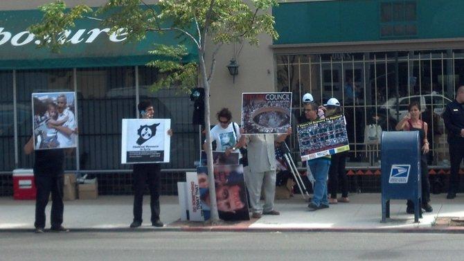 Pro-strike activists